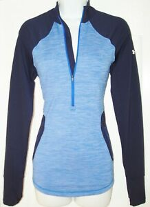 UNDER ARMOUR COLD GEAR REACTOR WOMEN'S PARTIAL ZIP FRONT TOP STRETCHY SIZE M NWT