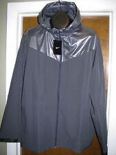 "$120 NIKE ""SWEATLESS"" MENS SILVER BLACK  HOODIE RUNNING JACKET 2XL XXL NWT"