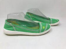 New! Women's Adidas Boat Slip-On Sleek Water Shoes SZ 7 Green/Yellow B35541 F12