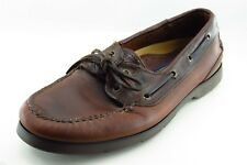 Sperry Top-Sider Boat Shoes Brown Leather Men Shoes Size 9.5 Wide (E, W)