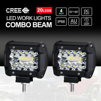1/2/4 4inch 200W CREE LED Work Light Bar Pods Flush Mount Combo Driving Lamp 12V