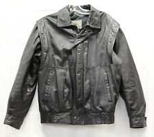 Boulevard Club Mens Leather Jacket Sz Small Excellent Used Condition Motorcycle