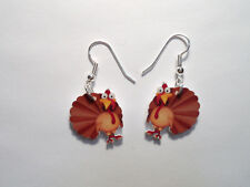 Turkey Earrings Thanksgiving Charms