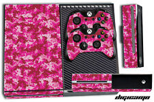 Designer Skin for XBOX ONE 1 Game Console + 2 Controller Stickers PINK DIGICAMO