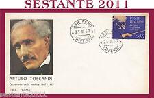 ITALIA FDC ROMA ARTURO TOSCANINI 1967 SAN REMO G67