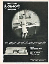 PUBLICITE   1967   UGINOX    évier inox