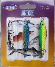 SEA STRIKER GOT-CHA Jig Fish Spanish Mackerel 3-Pack JFA-3PK Offshore Lures