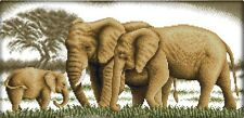 A Happy Family. Elephant. 14CT counted cross stitch kit. Craft brand new.