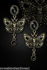 Restyle Steampunk Motten Ohrringe Gothic Lolita Moths Earrings Studs Vintage WGT
