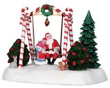"Lemax Christmas Valley "" Santa Rocks "" Swinging Santa Swing"