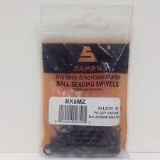 Sampo Ball Bearing Swivels Black Scissor Snap BX5MZ Size 5 100lb 12pk NOS