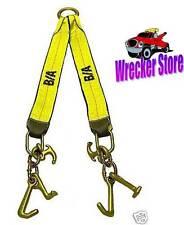 G70 V STRAP W/ CLUSTER HOOK FOR WRECKER TOW TRUCK, ROLLBACK - COMMERCIAL GRADE