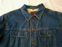 Lee Denim Jean Jacket Sherpa Lined Trucker Mens Size Large