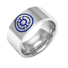 Blue Lantern ring, Sterling Silver band ring
