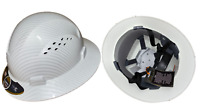 White TrueCrest Hydro-Dipped Full Brim Hard Hat Fast-trac Suspension