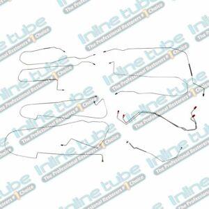 2004-05 Buick LeSabre Preformed Brake Line Kit ABS Complete 10pc Tubes OE STEEL
