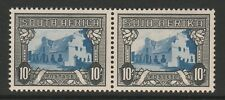 South Africa 1944 10/- Blue & charcoal SG 64ca Mnh.