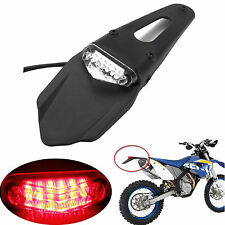 Universal 12 LED Rear Stop Tail Light Fender Enduro Fits CRF KTM EXC WRF 250 400