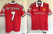 Man United shirt 1998 1999 BECKHAM shirt jersey Manchester Utd Retro Medium