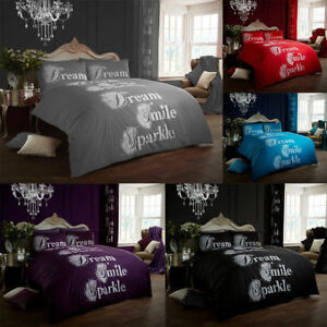 Smile Dream Sparkle Duvet Quilt Cover Bedding Set With Pillowcases All Sizes