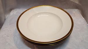 Hutschenreuther Selb. | 3 Set Porzellan Suppenteller mit Goldrand  LHS
