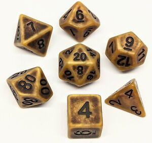 Ancient Bone Dice Set Pathfinder DND Role Play DM RPG 5E Critical Role