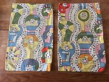 Two Vintage Ikea Pillow Sham or Covers - Retro Mod Abstract - Discontinued