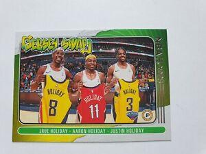 2020-21 NBA Hoops Jersey Swap Jrue Holiday, Aaron Holiday, Justin Holiday