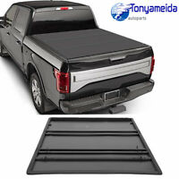 Truck Bed Tonneau Cover Tri-Fold 5Ft Soft Cover For 2016-2019 Toyota Tacoma