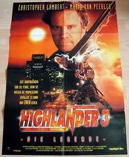 Christopher Lambert HIGHLANDER 3 original Kino Plakat A1