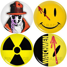 The Watchmen Set of 4 Pin Badges NEW Pack Super heroes SciFi Science Fiction
