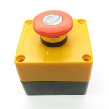 Power Emergency Stop Red Push Button Switch No Nc Latching With Waterproof Box