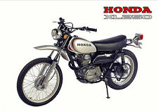 HONDA Poster Classic XL250 Motosport 1972 1973 1974 1975 Suitable to Frame