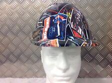 vented safety Helmet hard hat horror film card design Builder Construction