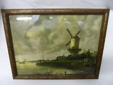 Vintage Windmill at Wijk bij Duurstede by Jacob van Ruisdael Framed Print