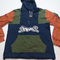 Men's Le Tigre 100% Authentic Jacket W Hoodie Multicolor Size Medium