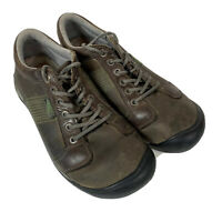 KEEN Mens Austin Brown Leather LaceUp Hiking Shoes Sz 10.5 Walking Trail Outdoor
