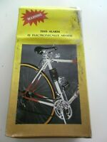 Vintage BICYCLE anti-theft alarm SUPERIOR BIKE ALARM ELECTRONICALLY ARMED vélo