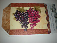 Set of 2 Purple & Red Grapes Deluxe Vinyl Placemats 12 x 18 in. NEW with Tags