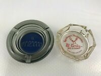2 Vintage Las Vegas Casino Hotel Glass Ashtrays EL CORTEZ Smoke EL MOROCCO