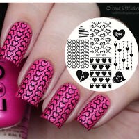 Nail Stamping Plates Love Heart Pattern Nail Art Image Template DIY BORN PRETTY