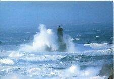 Alte Postkarte - Tempête sur le phare de la Vieille à la Pointe du Raz