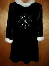 GIRLS SIZE 5 SNOWFLAKE WINTER HOLIDAY DRESS BY BONNIE JEAN