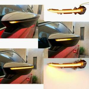2× Dynamic LED Turn Signal Mirror Light Indicator Seat Leon MK3 Ibiza 5F 2013+