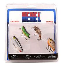 Rebel Classic Critter Lure Pack - Crickhopper, Crawfish, Pop-R, Teeny Wee-R