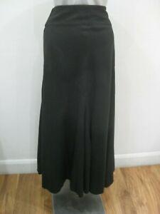 ATMOSPHERE Black Linen Blend Full Maxi Skirt ~ UK 8