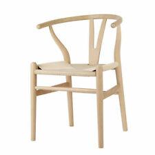 Set of 2 Replica Hans Wegner Wishbone Chairs - Natural