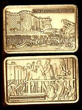 ♔♔ Bronze Plaqué Bar ♔ Révolution Française 1789 ♔ l'exécution de Louis XVI ♔♔