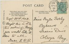 "2427 1903 EVII 1/2 d superb postcard with Duplex ""LEYTONSTONE-S.O / E. / 17 / 1"""