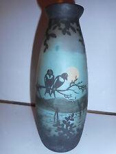 vase art déco deveau représentant marais oiseau deveau representative marsh bird